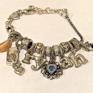 Brighton Silver 14-Charm Bracelet